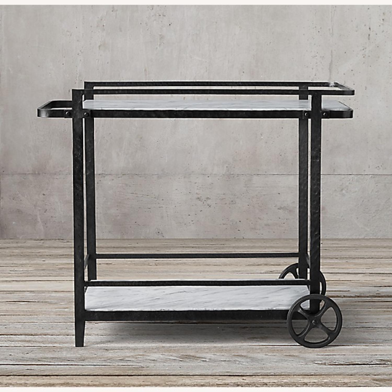 Restoration Hardware Iron Bar Cart - image-3