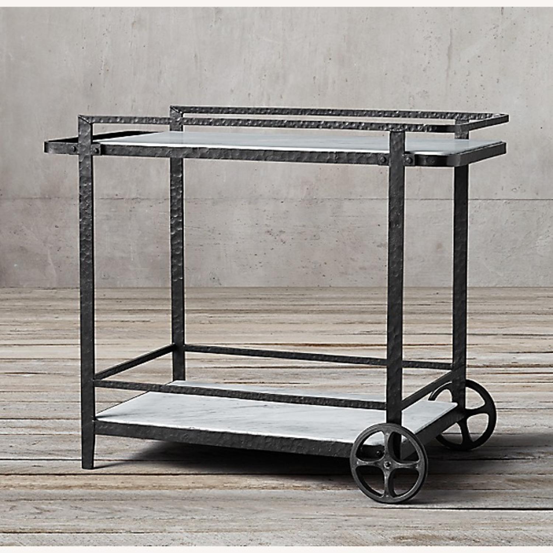 Restoration Hardware Iron Bar Cart - image-2