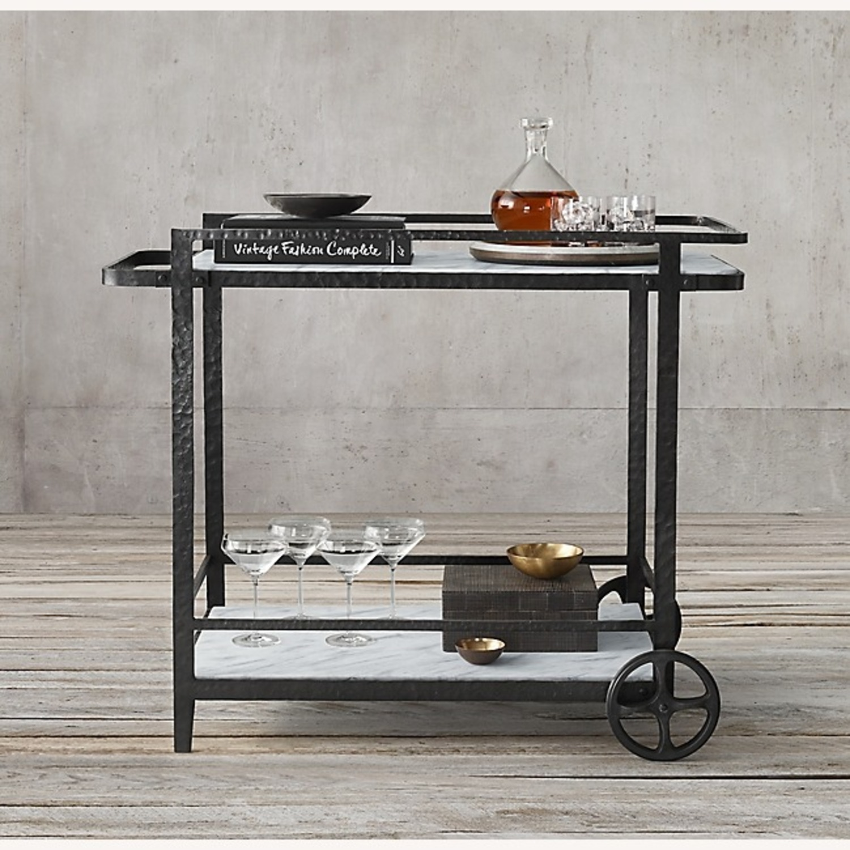 Restoration Hardware Iron Bar Cart - image-1