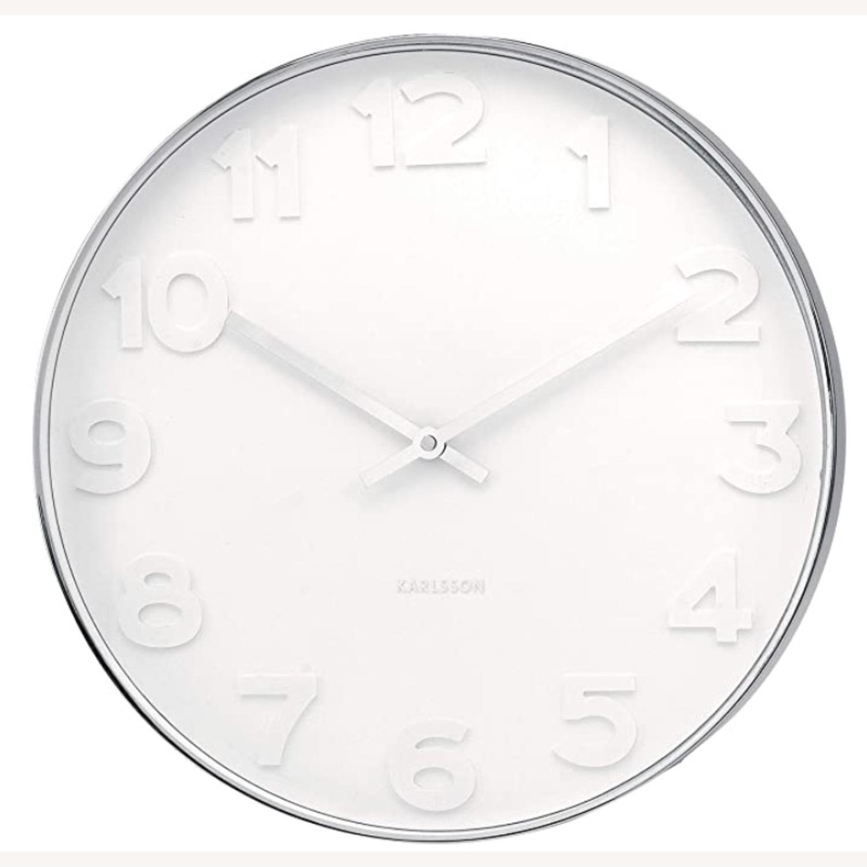 Minimalist Present Time Wall Clock by Karlsson - image-1