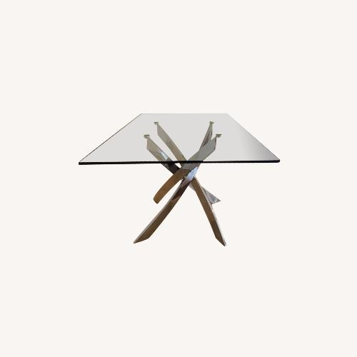 Used Wade Logan Modern Glass Dining Table for sale on AptDeco