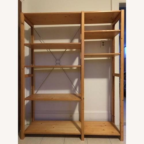 Used Wood Shelf Unit w/ 15 Shelves for sale on AptDeco