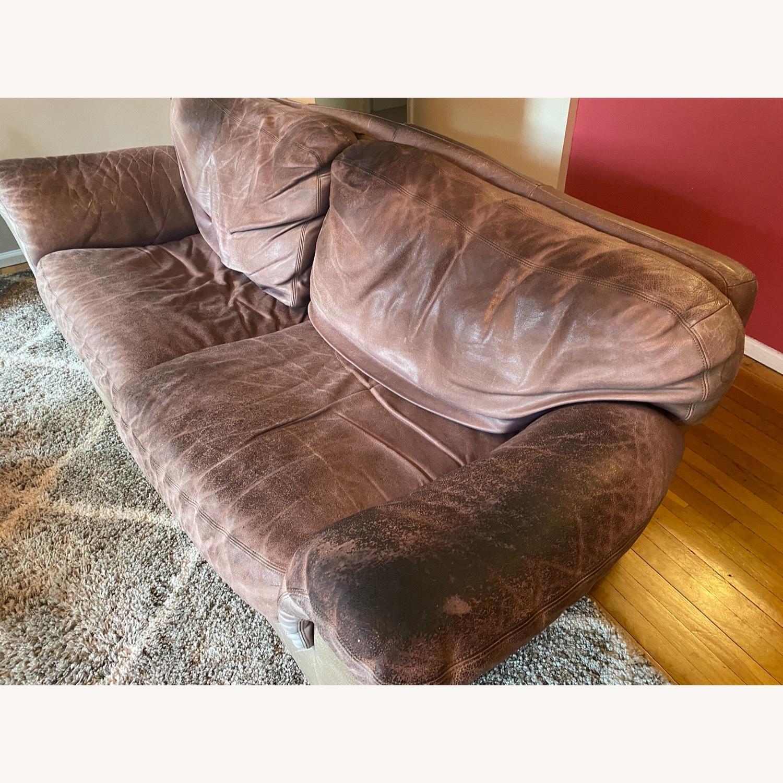 Jensen-Lewis Purple Leather Sofa - image-6