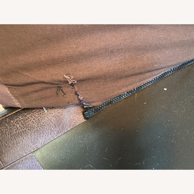Jensen-Lewis Purple Leather Sofa - image-8