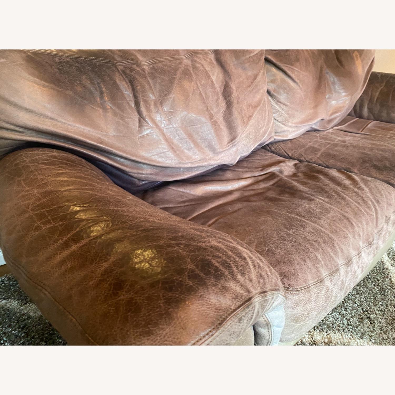 Jensen-Lewis Purple Leather Sofa - image-9