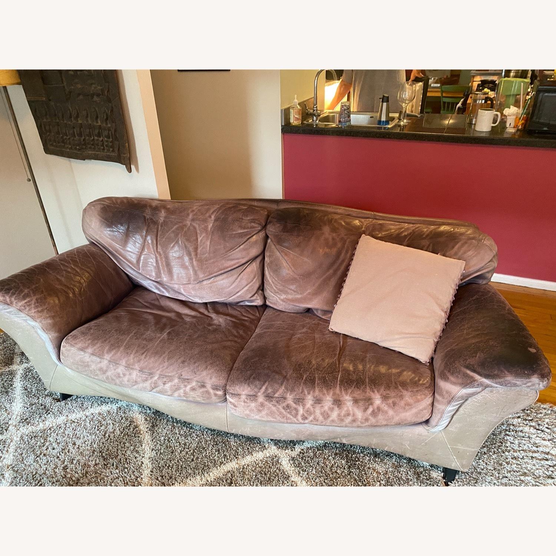 Jensen-Lewis Purple Leather Sofa - image-13