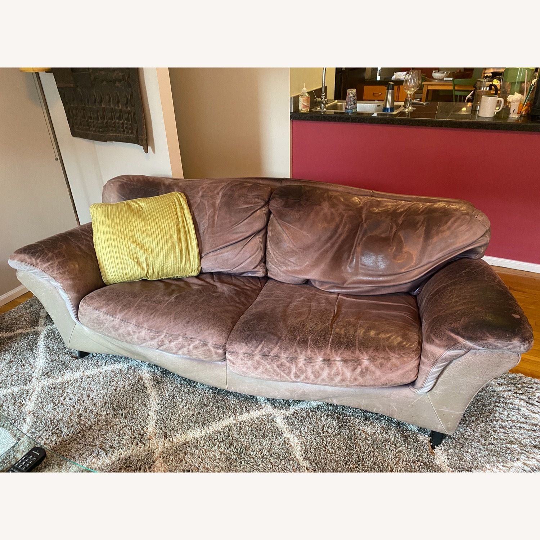 Jensen-Lewis Purple Leather Sofa - image-14