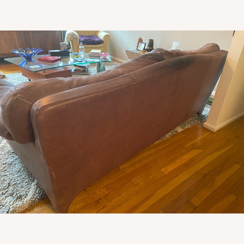 Jensen-Lewis Purple Leather Sofa - image-3