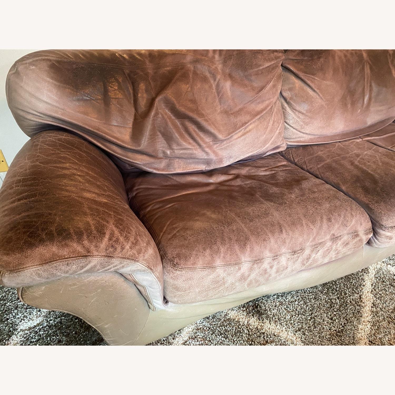 Jensen-Lewis Purple Leather Sofa - image-5