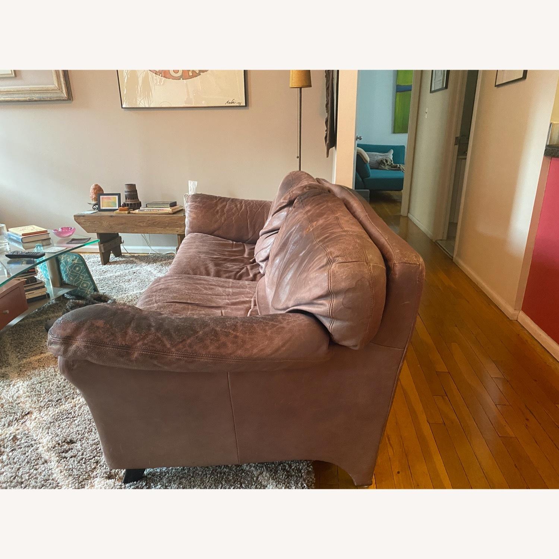 Jensen-Lewis Purple Leather Sofa - image-2