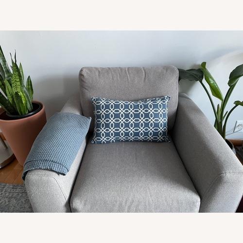 Used Geometric Blue Cushion for sale on AptDeco