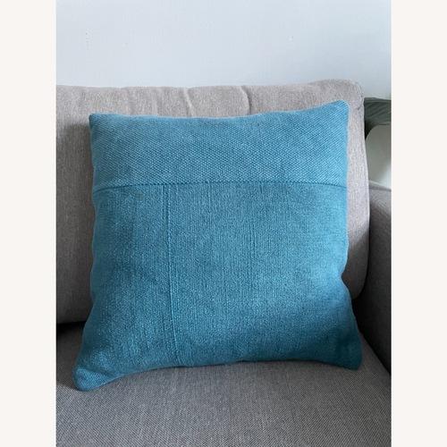 Used West Elm Petrol Blue Cushion for sale on AptDeco