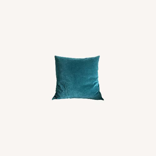 Used Petrol Velvet Pillow for sale on AptDeco