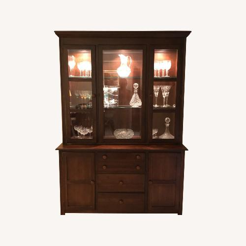 Used Drexel China Cabinet with Matching Server for sale on AptDeco