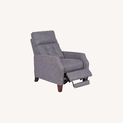 Used Macy's Grey Fabric Pushback Recliner for sale on AptDeco