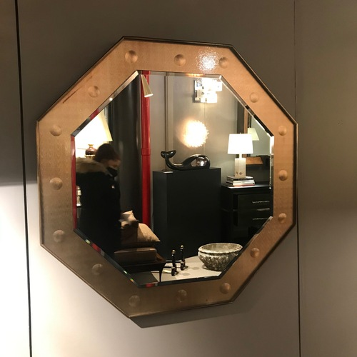 Used Octagonal Amber Mirror for sale on AptDeco
