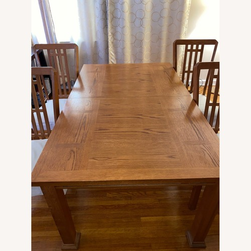 Used Vintage Wood Dining Set for sale on AptDeco