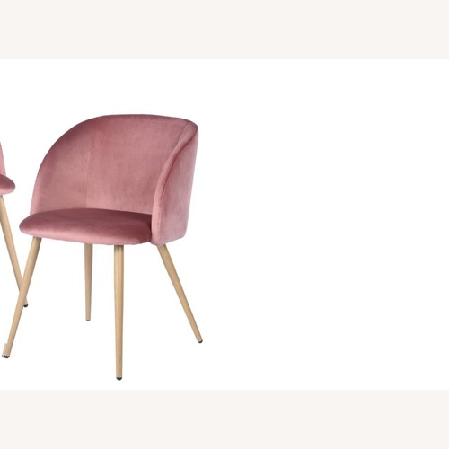 Used Mid-Century Velvet Accent Arm Chair, Rose color for sale on AptDeco