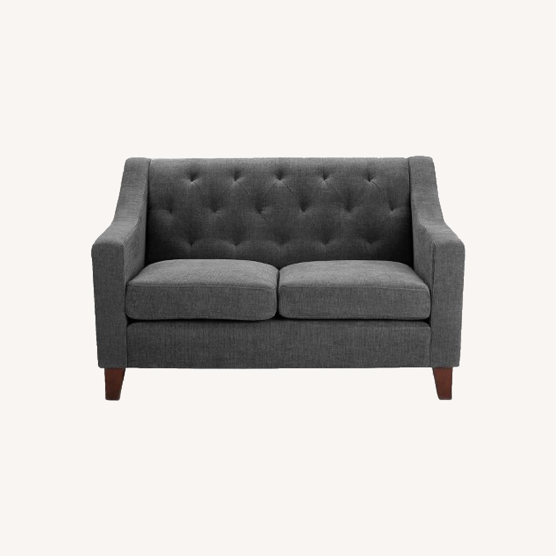 Target Felton Gray Tufted Loveseat Sofa - Threshold - image-0