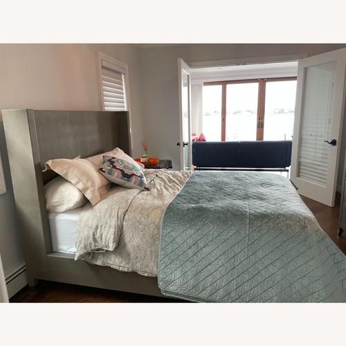 Used Restoration Hardware Graydon Shagreen Shelter Bed Frame for sale on AptDeco