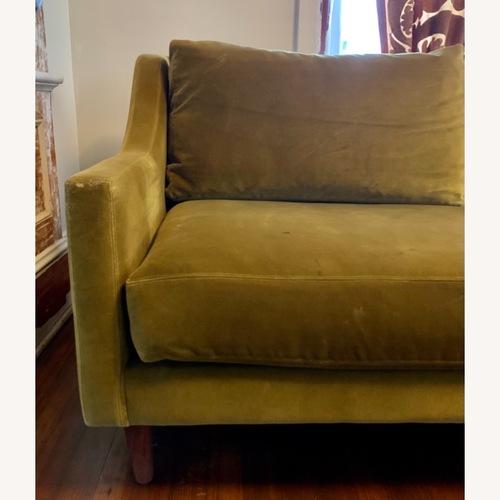 Used ABC Home Green Velvet Down Sofa for sale on AptDeco