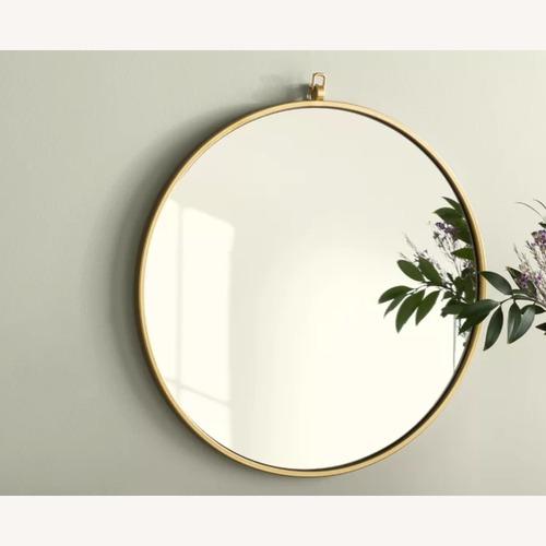 Used Wayfair Yedinak Traditional Accent Brass Mirror for sale on AptDeco