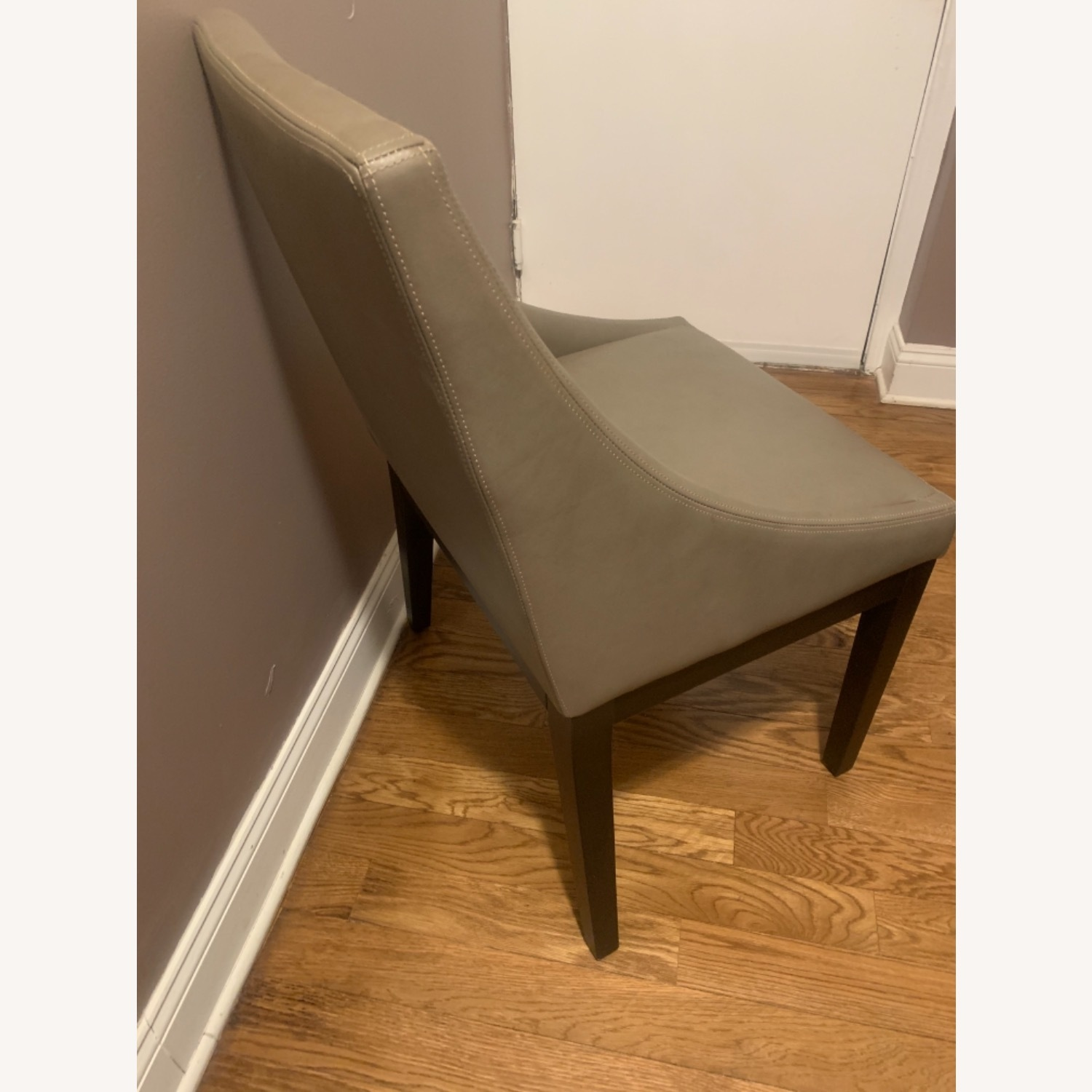 West Elm Curved Leather Dining Chairs Aptdeco
