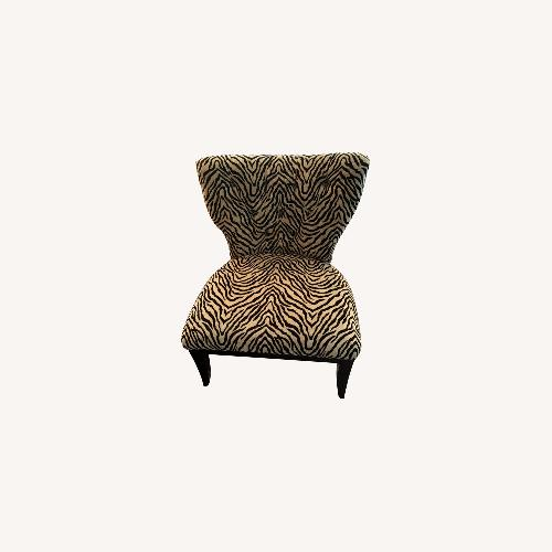 Used Fortunoff Leopard Print Chair for sale on AptDeco