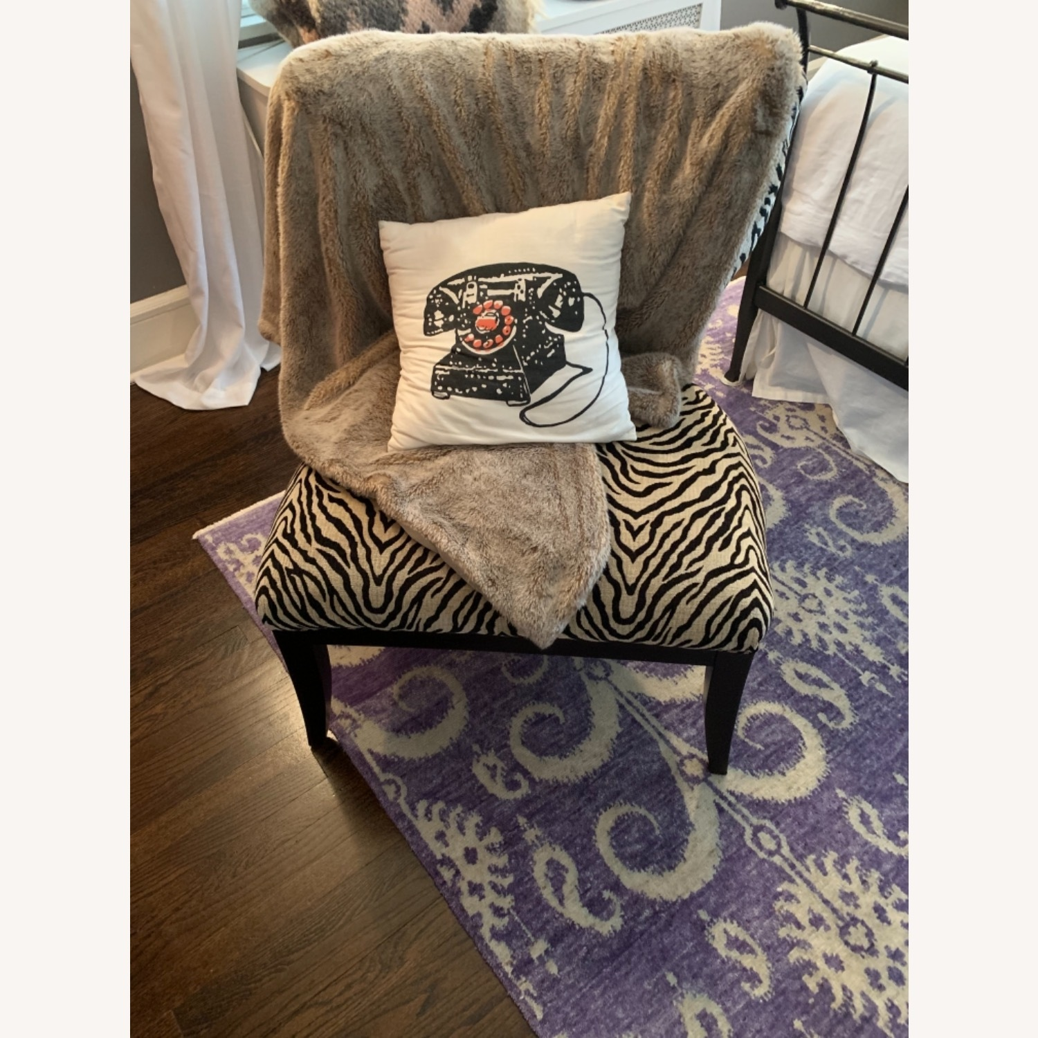 Fortunoff Leopard Print Chair - image-1