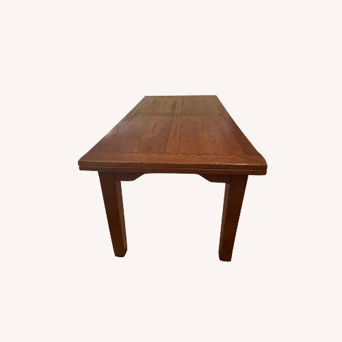 Used ABC Carpet & Home Expandable Oak Refectory Table for sale on AptDeco