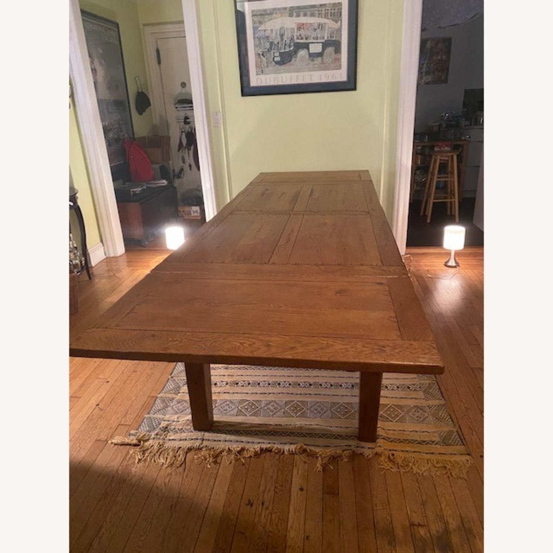 ABC Carpet & Home Expandable Oak Refectory Table - image-3