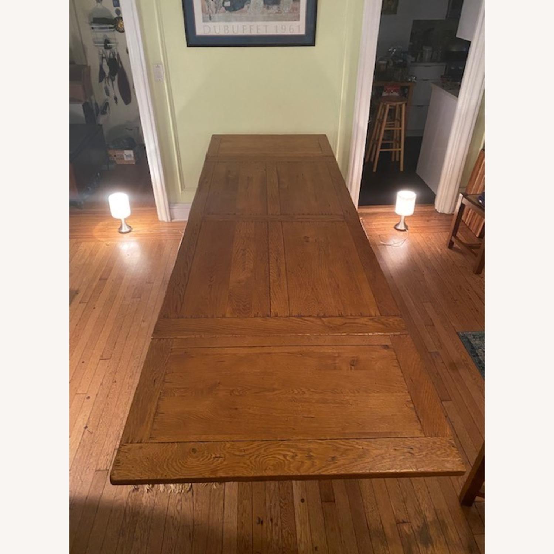 ABC Carpet & Home Expandable Oak Refectory Table - image-6
