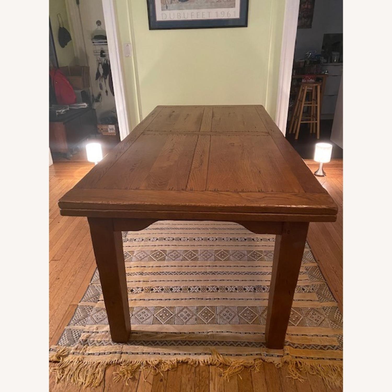ABC Carpet & Home Expandable Oak Refectory Table - image-1