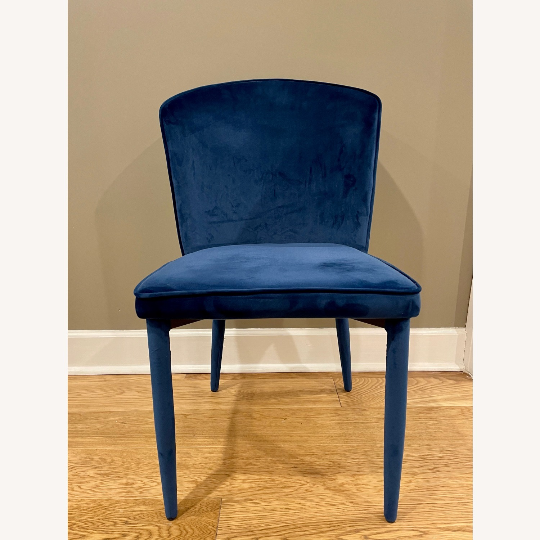 TOV Furniture Metropolitan Navy Velvet Chair - image-1