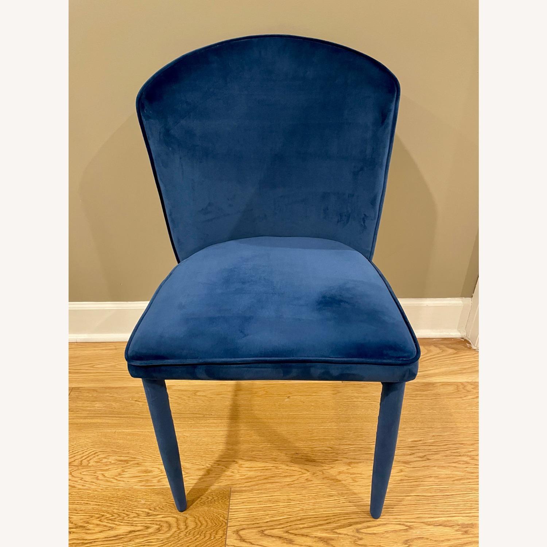 TOV Furniture Metropolitan Navy Velvet Chair - image-3