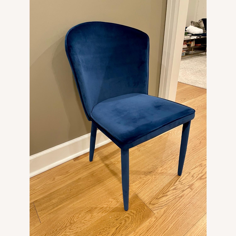 TOV Furniture Metropolitan Navy Velvet Chair - image-2