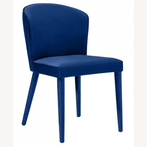 Used TOV Furniture Metropolitan Navy Velvet Chair for sale on AptDeco