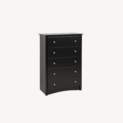 Used Prepac Manufacturing Transitional Black Chest Dresser for sale on AptDeco