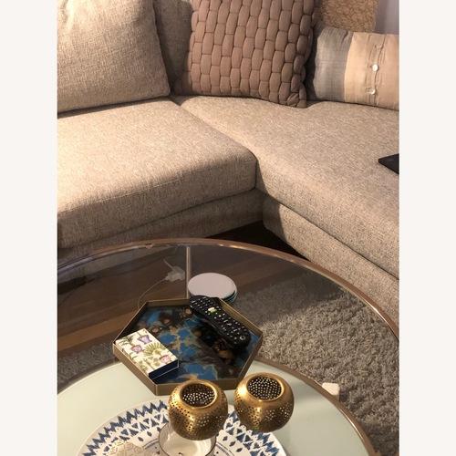 Used Mercury Row Sleek Glass Coffee Table for sale on AptDeco