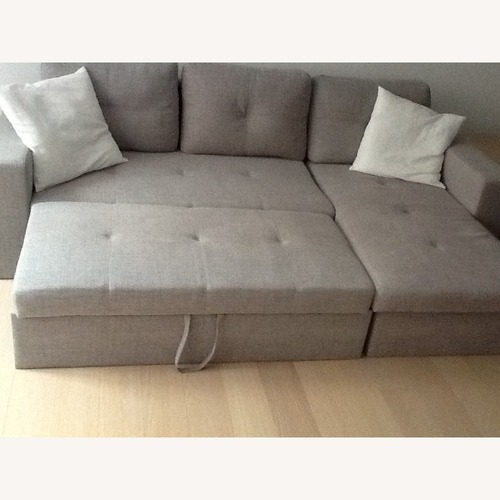 Used Grey Pull Out Sleeper Sofa for sale on AptDeco