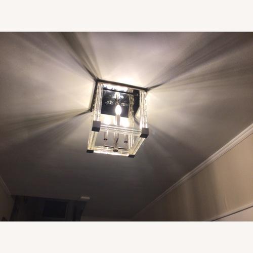 Used Hudson Valley Flush Mount Light: Polished Nickel for sale on AptDeco