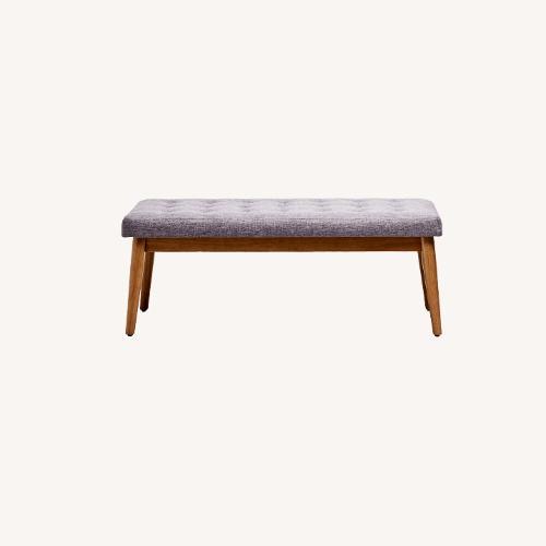 Used Crosley Weaver Upholstered Bench for sale on AptDeco