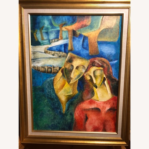Used Oil Painting With Frame for sale on AptDeco