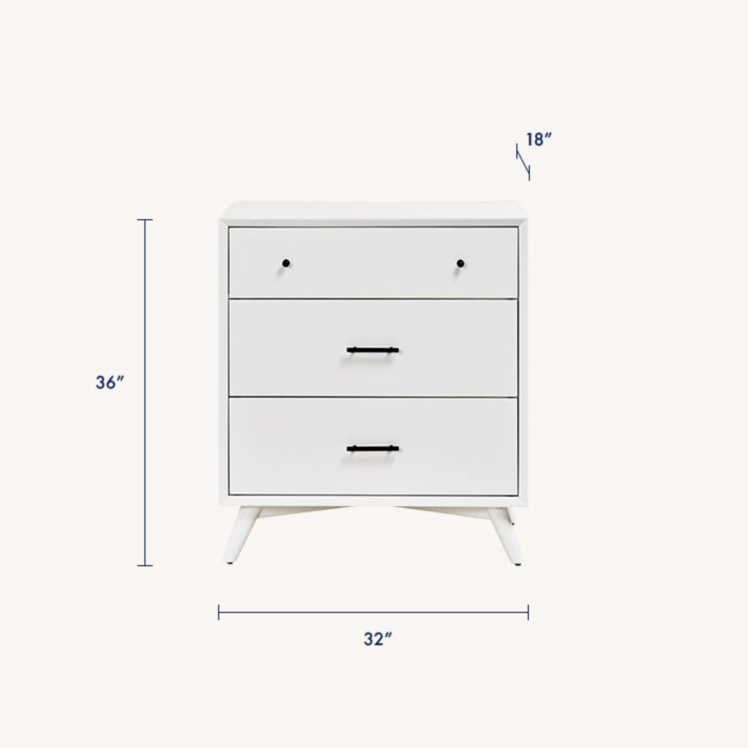 Feather Akepa Dresser WHITE - image-1
