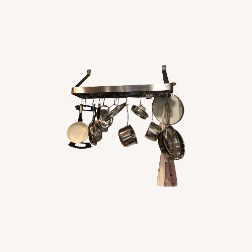 Used Cuisinart Stainless Steel Pot Rack for sale on AptDeco