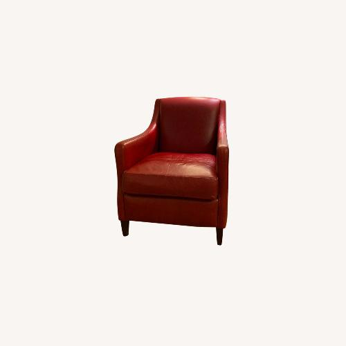 Used American Leather Red Leather Accent Chair for sale on AptDeco
