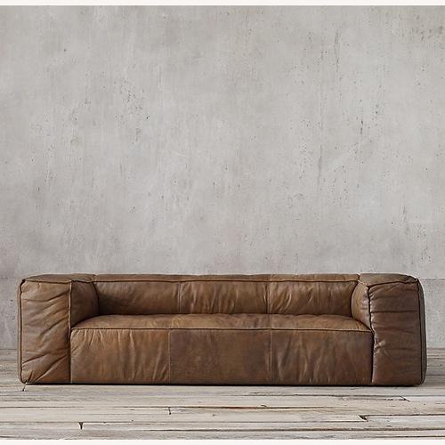 Used Restoration Hardware Fulham Leather Sofa for sale on AptDeco