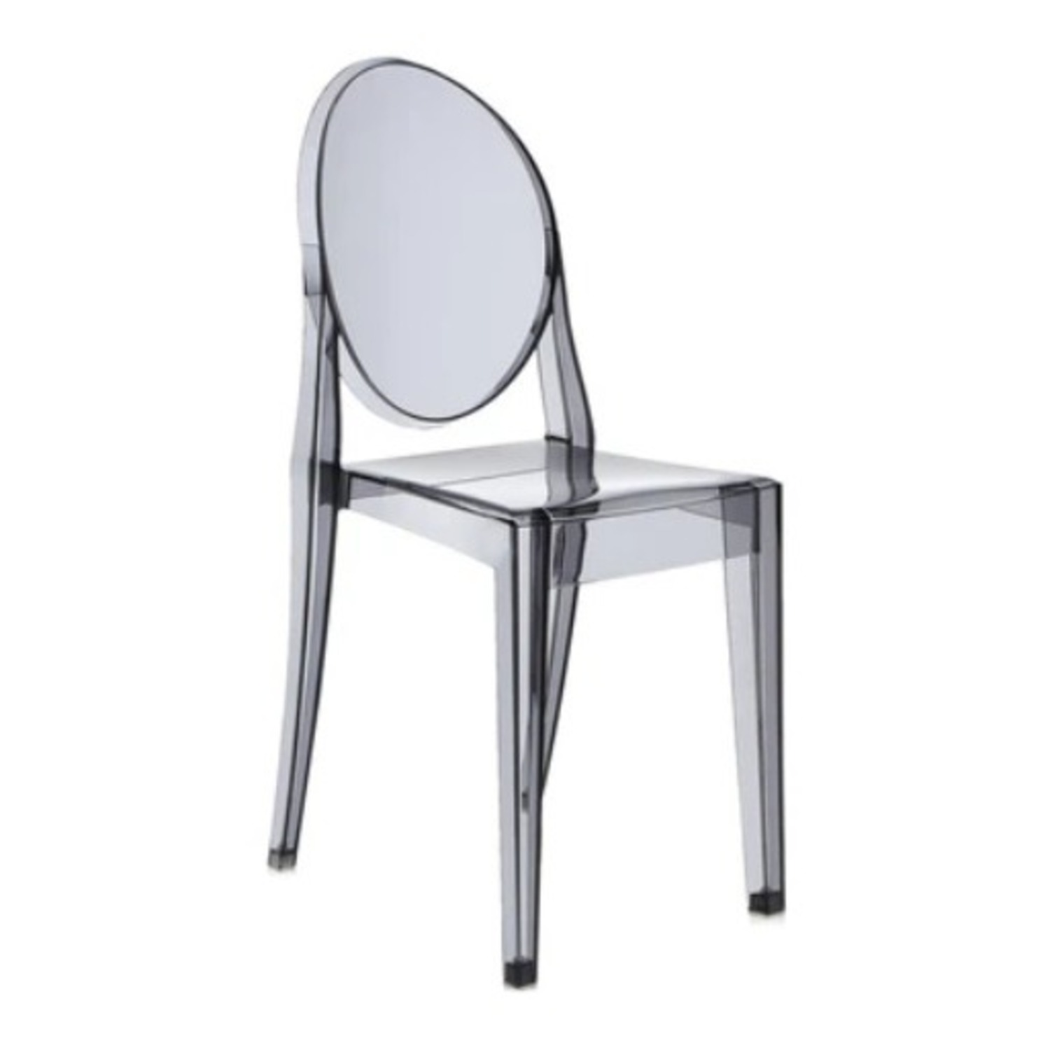 Kartell Victoria Ghost Chair in Smoke Grey - image-1