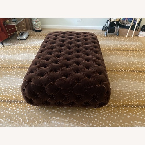 Used George Smith Tufted Ottoman for sale on AptDeco