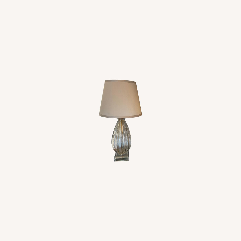 Nancy Corzine Pair of Murano Teardrop 617G Lamps - image-0
